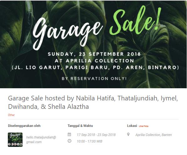 Nabila Hatifa Yuk Ketahui 5 Tips Bikin Garage Sale Sendiri Loket Com