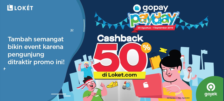 image Semangat Bikin Event di Loket.com karena Pengunjung ditraktir GoPay