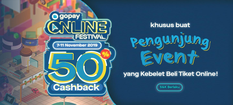 image GoPay Online Festival: Bikin Pengunjung Event Kebelet Beli Tiket
