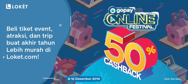 image GoPay Online Festival Desember 2019 Bikin Kebelet Liburan!
