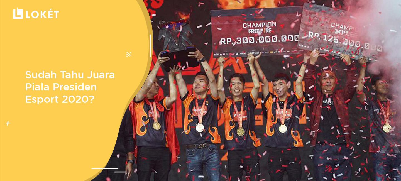 image Piala Presiden Esport 2020: Juara Free Fire, PES, MPL, & Game Lokal