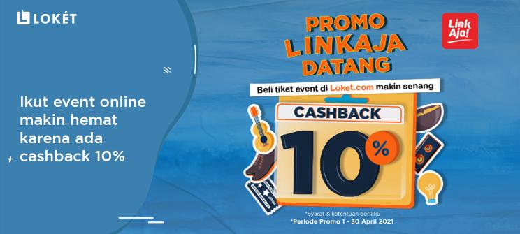 image Promo Cashback 10% dari LinkAja